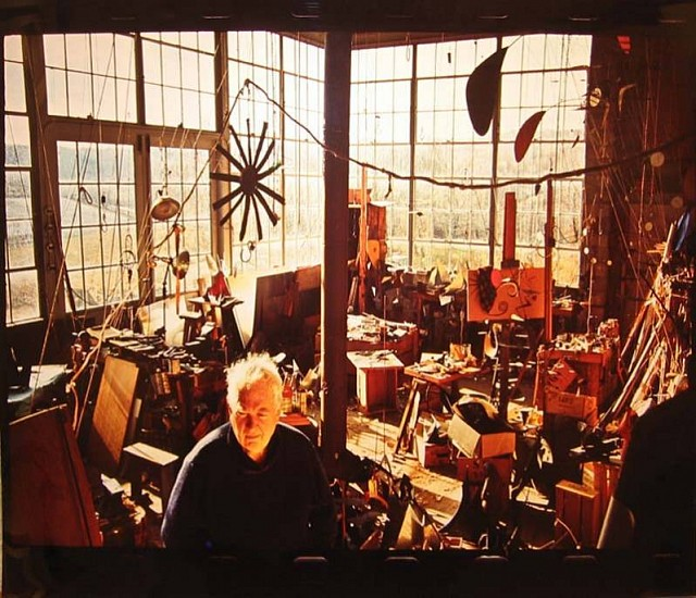 Dan Budnik, Alexander Calder in his Studio, Roxbury, CT 1965, Photograph
