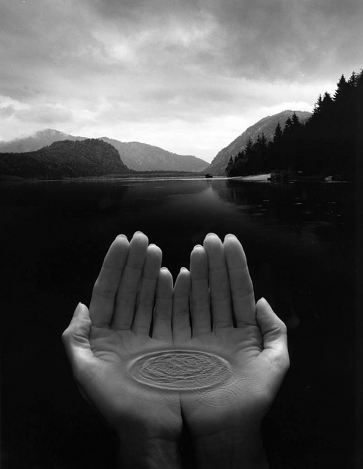 Jerry Uelsmann, Untitled, 2003- Hands Holding Water silver gelatin print