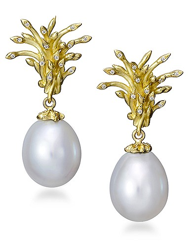 Cornelia Goldsmith, Cornelia Goldsmith White Pearl Earrings jewelry
