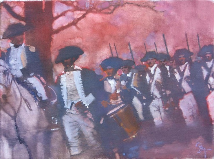 Bernie Fuchs (1932 - 2009), Soldiers Marching 2006, oil on linen