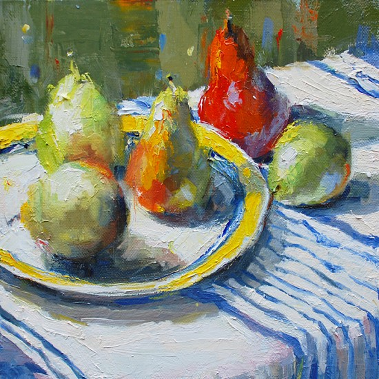 Julee Hutchison, Five Pears oil on linen