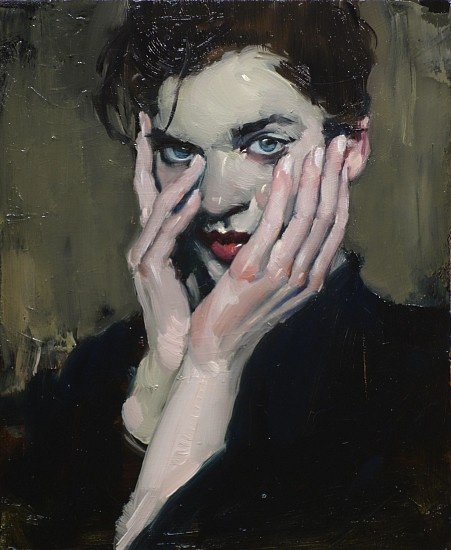 Malcolm Liepke, Hands to Face 2016, oil on canvas