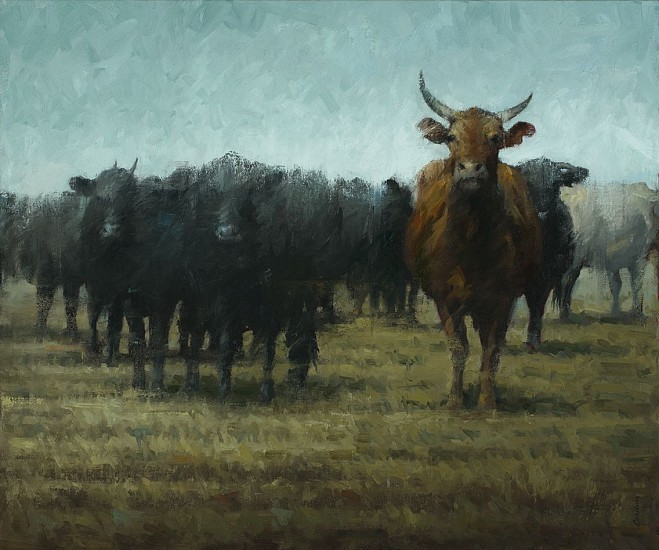 Terry Gardner, Proud Horns 2016, oil on canvas