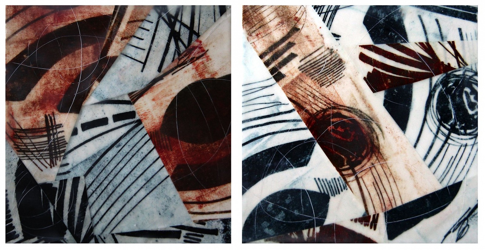 Judith Kohin, Fly, Diptych 2016, Mixed Media Encaustic