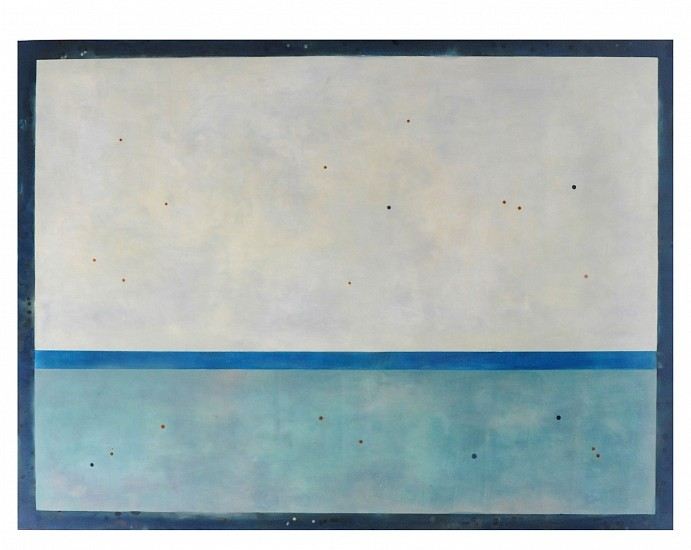 Shawna Moore, Night Wave 2016, encaustic on panel