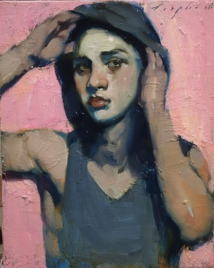 Malcolm Liepke, Boy in Hood 2016, oil on canvas