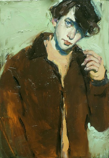 Malcolm Liepke, Brown Coat 2017, oil on canvas