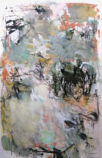 Krista Harris, Airstream 2017, acrylic, oil pastel, charcoal, plaster, pastel on paper
