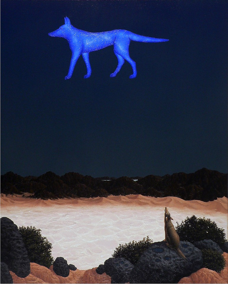 Steve Galloway, Coyote Sky 2017, oil on canvas