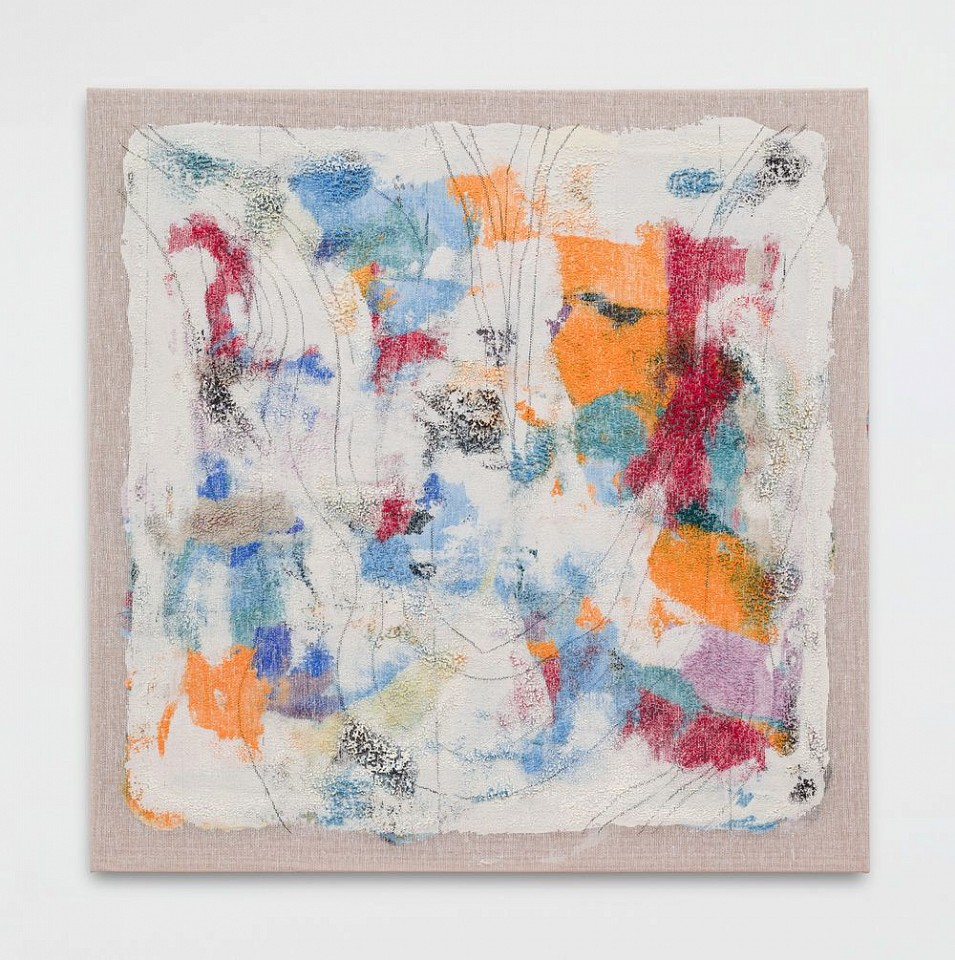 Kristin Beinner James, Untitled 2015, acrylic, wax, charcoal on cotton interface