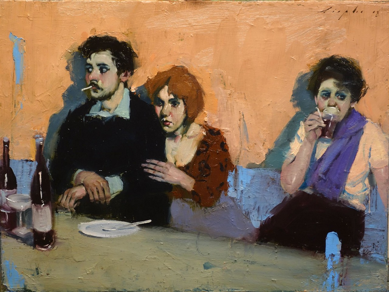 Malcolm Liepke, Different Stories 2018, oil on canvas